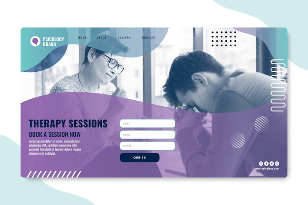 Psychology consulting landing page template