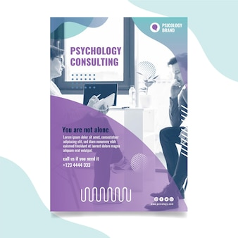 心理学コンサルティングポスターテンプレート
