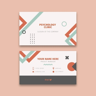 Psychology double sided business card