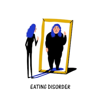 Psychology - eating disorder, anorexia or bulimia
