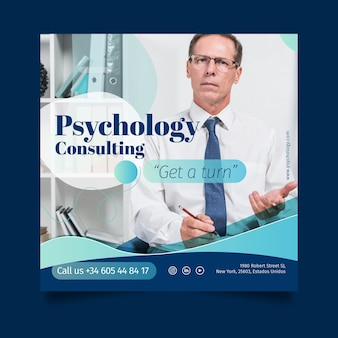 Psychology flyer template