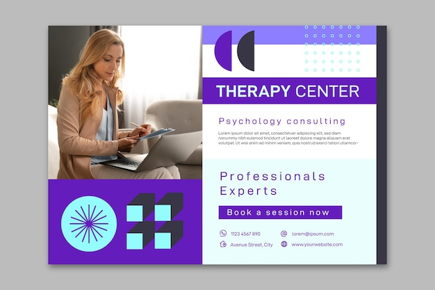 Psychology horizontal banner template