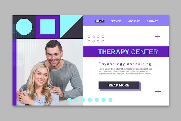 Psychology landing page template