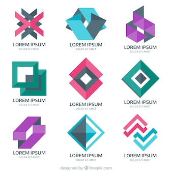 Psychology logos in abstract style