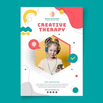 Psychology poster template
