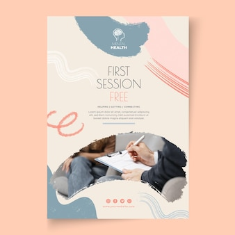 Psychology session poster template