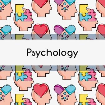 Psychology treatment analysis background design vector illustration