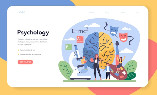 심리학 웹 배너 또는 방문 페이지