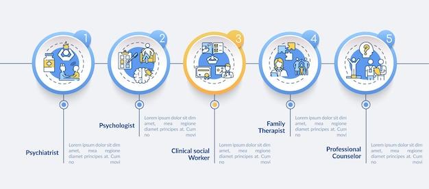 심리 치료 경력 infographic 템플릿