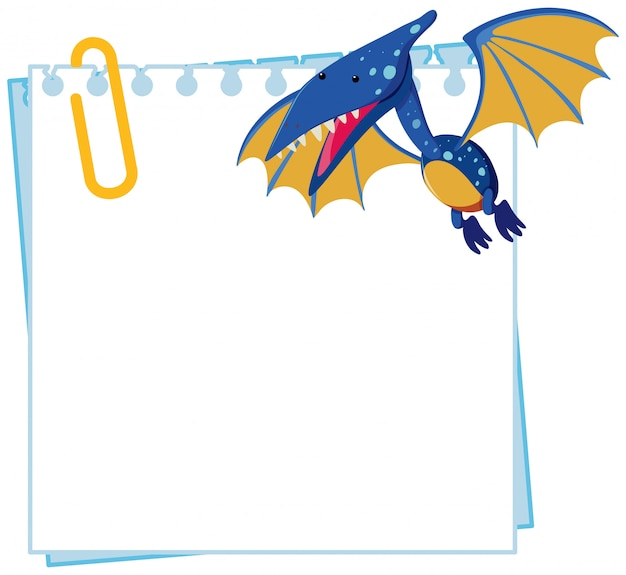 Pteranodon on note template