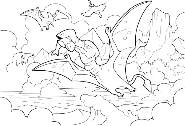 Pterodactyl fishing