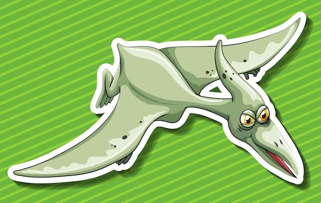 Pterosaur flying on green