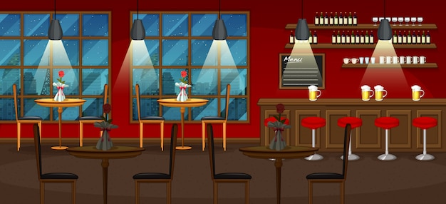 パブやレストランの背景シーン