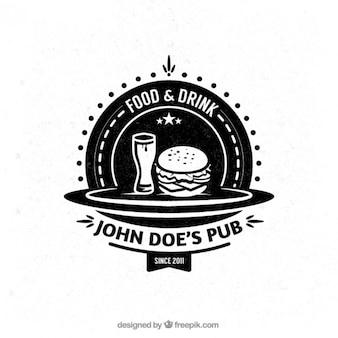 Pub badge in retro style