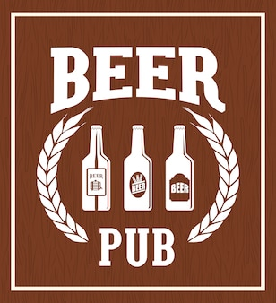 Pub beer and alcohol