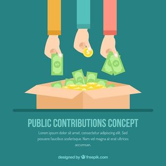 Public contributions concept