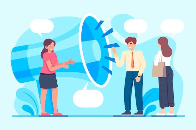 Public relations concept illustrated
