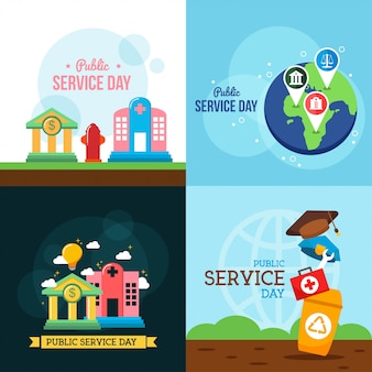 Public service day illustration