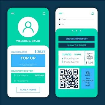 公共交通機関アプリのコンセプト