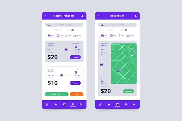 Public transport app template