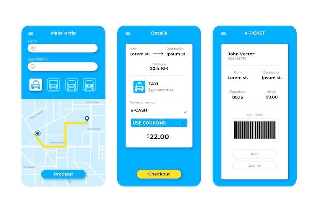 公共交通機関アプリ