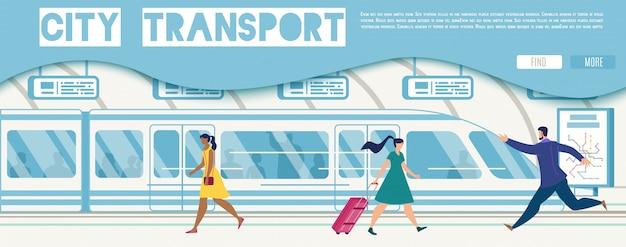 Public transport online service vector website