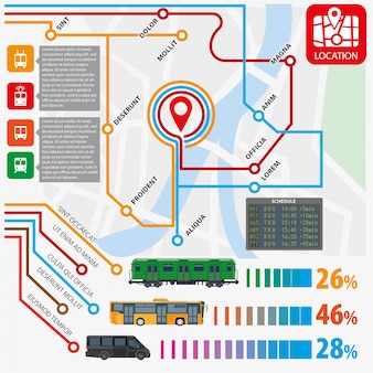 Public transport routes stations statistics