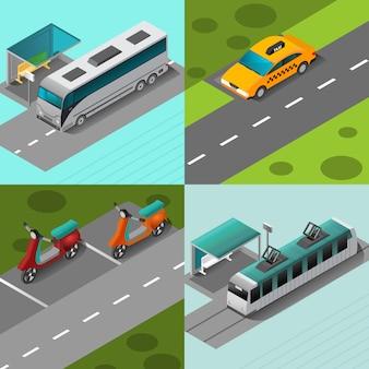 대중 교통 세트