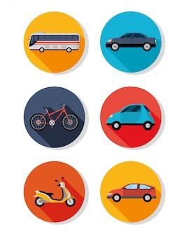 Public transport vehicles icon