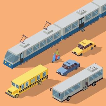 Public transportation pack  illustration