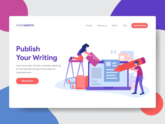 Publish articles illustration for web page