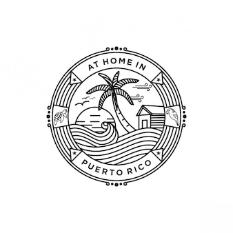 푸에르토 리코 해변 로고