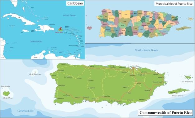 プエルトリコの地図