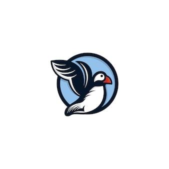 Puffin bird 로고 템플릿
