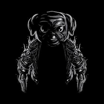 Мопс собака-убийца