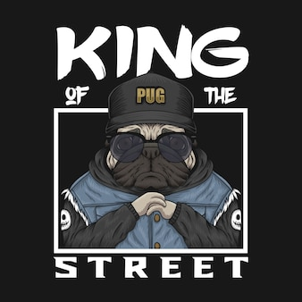 Pug king of the street