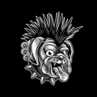 Мопс панк собака