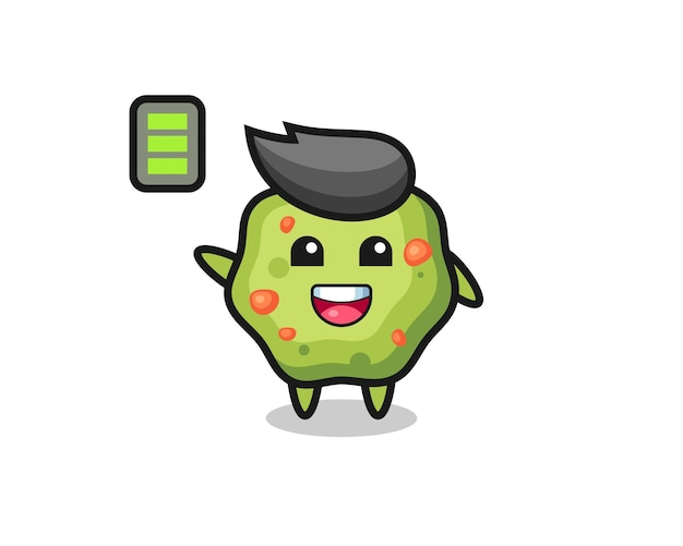 Puke mascot character with energetic gesture , cute style design for t shirt, sticker, logo element