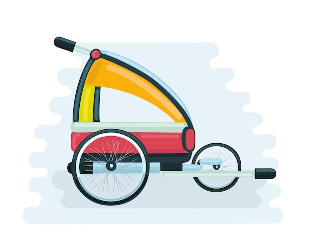 자전거 트레일러 뒤로 당겨