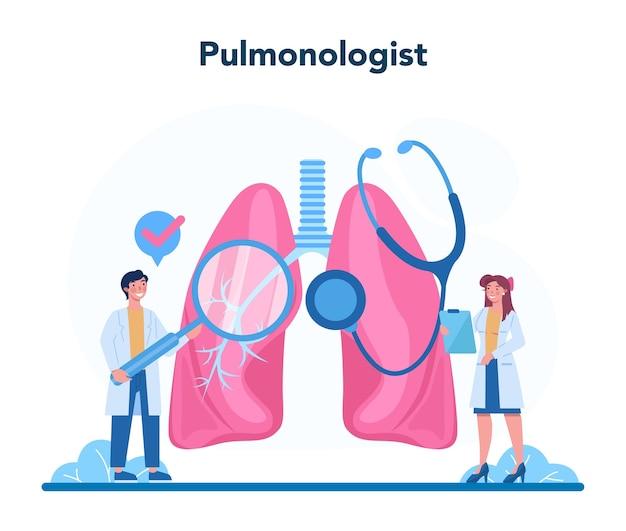 Pulmonologist. idea of health and medical treatment