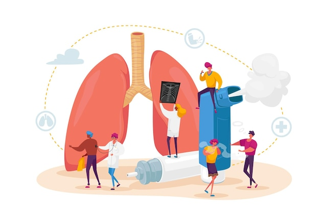 Pulmonology and asthma disease concept