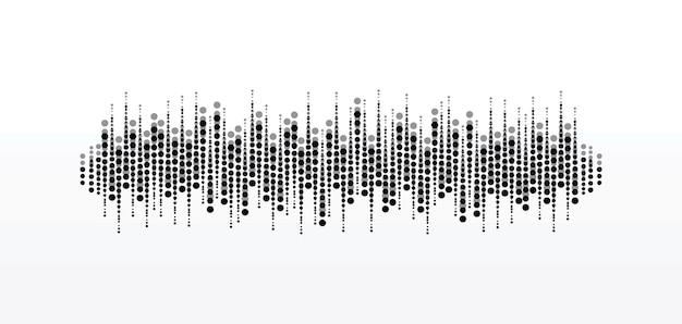 Музыкальный проигрыватель pulse circle. аудио красочная волна логотип. элемент векторного эквалайзера