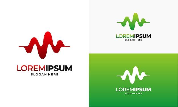 パルスロゴテンプレート、シンプルなヘルスケアロゴテンプレート、ヘルスセンターロゴデザインillus