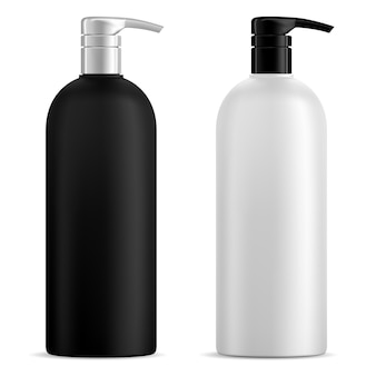 Pump bottle cosmetic dispenser for shampoo gel