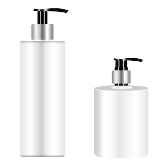 Бутылка с насосом. дозатор косметического шампуня. пластиковая бутылка-дозатор для жидкого мыла