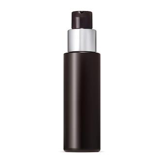 Pump bottle lotion or foam dispenser mockup round mousse tube with plastic press cap