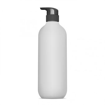 Бутылка дозатора насоса. упаковка косметического лосьона