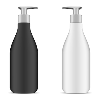 Pump dispenser bottle. cosmetic package. plastic