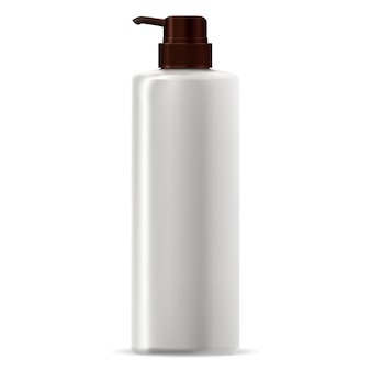 Pump dispenser bottle. hair conditioner cosmetic