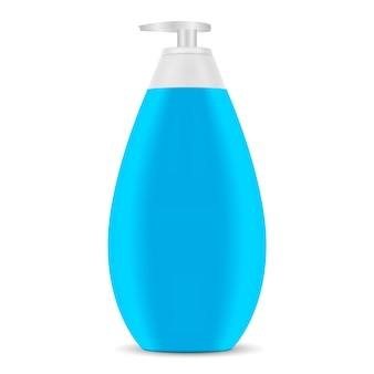 Pump dispenser child shampoo cosmetic bottle.